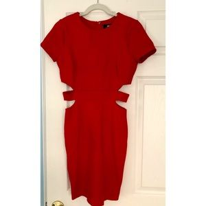 Lulu's Red Bodycon Cutout Dress